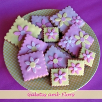 Galletas decoradas con Flores