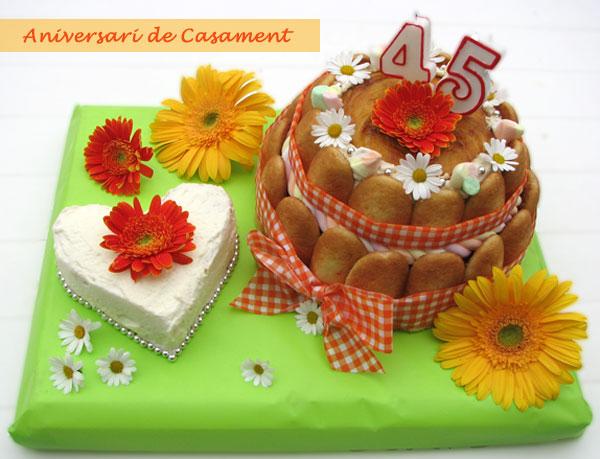 Pastel 45 Aniversario De Bodas